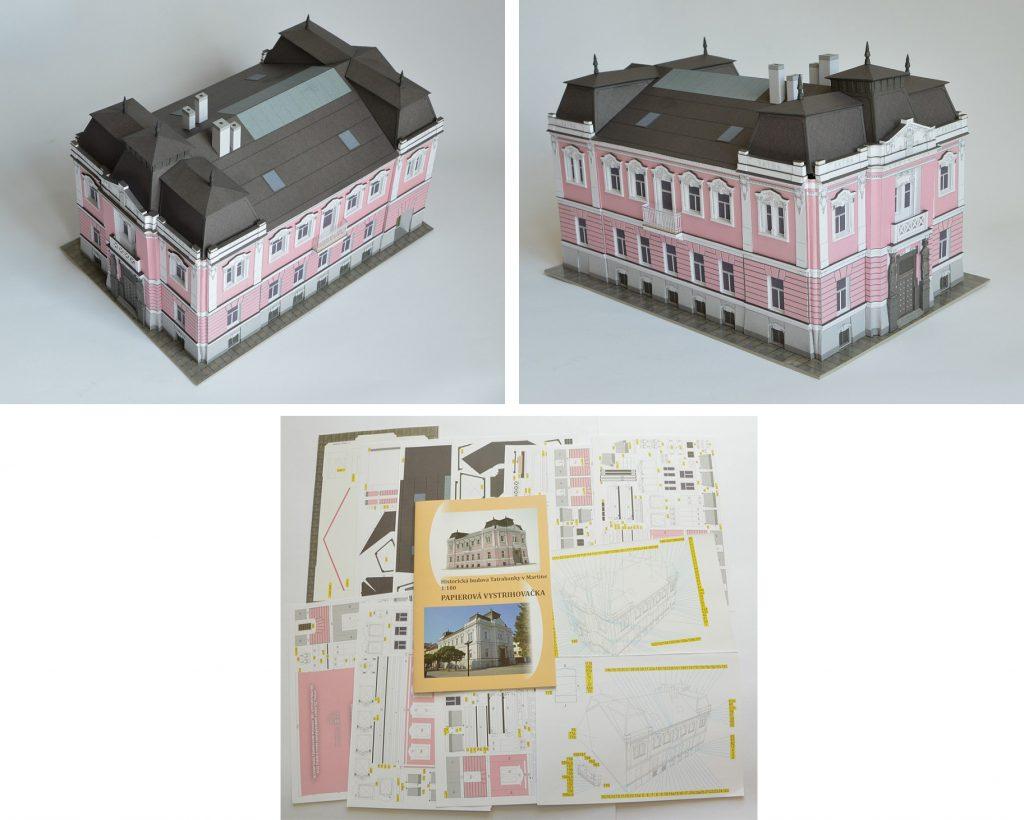 Papierový model historickej budovy Tatra Banky - Miroslav Lisinovič.